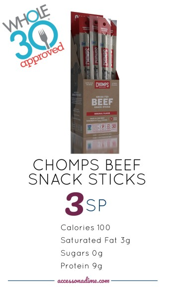 CHOMPS BEEF SNACK STICKS 3 SP Weight Watchers. Whole 30 Approved. accessonadime.com