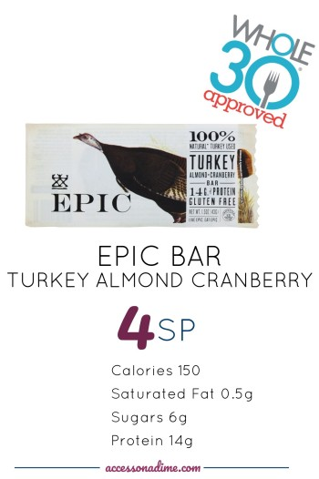 EPIC TURKEY ALMOND CRANBERRY 4 SP Weight Watchers. Whole 30 Approved. accessonadime.com