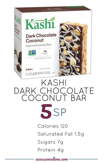 KASHI Dark Chocolate Coconut 5 SP Weight Watchers. accessonadime.com