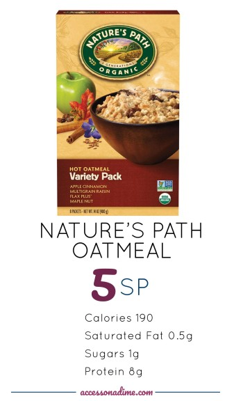 NATURE'S PATH OATMEAL 5 SP Weight Watchers. accessonadime.com