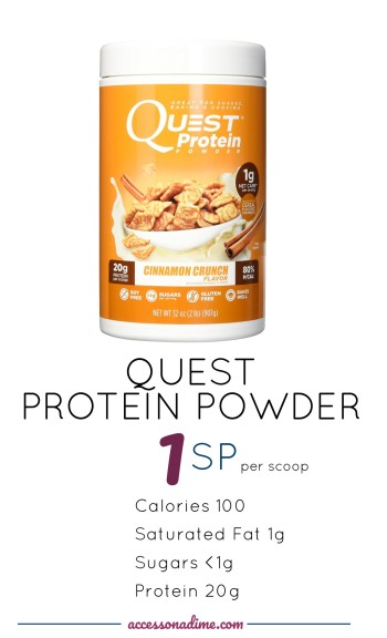 Quest Nutrition Protein Powder, Cinnamon Crunch 1 SP Weight Watchers. accessonadime.com