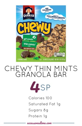THIN MINTS CHEWY BAR 4 SP Weight Watchers. accessonadime.com